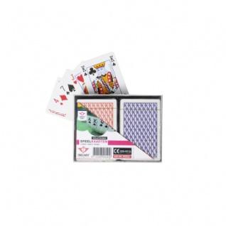 Spielkarten Doppelblatt - Plastik 2x54