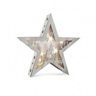 Leuchtstern mit Motiv - Shabby Chic - groß