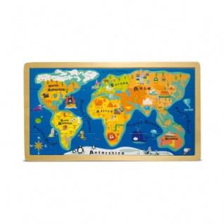 Rahmenpuzzle Weltkarte