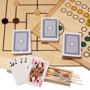 Spielesammlung - Holz - inkl. 10 Spiele-Klassiker - Vorschau 5