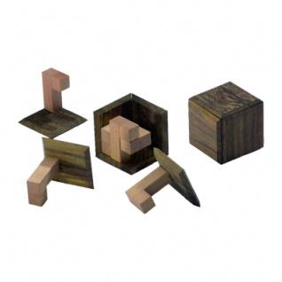 Hakenwürfel - 6 Puzzleteile - Denkspiel - Knobelspiel - Geduldspiel