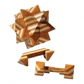 Apollo-Puzzle - Bambus - 12 Puzzleteile - Denkspiel - Knobelspiel - Geduldspiel