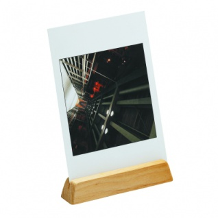 Kartenhalter natur - Schiene - Massivholz - geölt - 11 cm