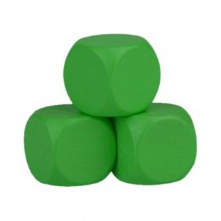 Blankowürfel - 30mm - grün