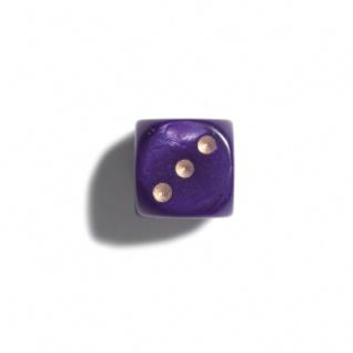 Würfel - 12 mm - lila - pearl - 36 Stück