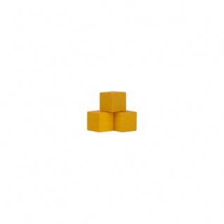 Würfel - Quader - kantig - 8mm - gelb