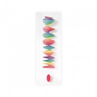 Bambusspirale Regenbogen XL