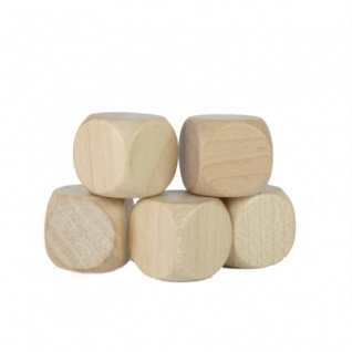 Würfel - Blanko - natur - W6 - Ahorn - Holz - 16 mm