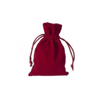 Stoffbeutel aus Samt - ca. 10 x 15 cm - bordeaux - rot