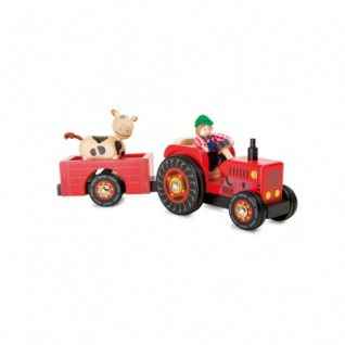 Traktor mit Anhänger - Bauernhof - Vorschau