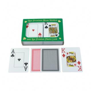Spielkarten Premium für Poker - Bridge - Canaster - Doppelblatt - 2x55 Karten - Plastik