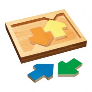 Pfeil Puzzle - 4 Spielsteine - Denkspiel - Knobelspiel - Geduldspiel