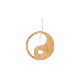 Holzhänger Yin Yang mit Kristall