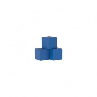 Holzwürfel - Spielsteine - kantig - blau - Holz - 10 mm