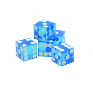 19mm Casino-Würfel 5 Stück lila