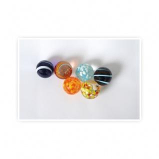 Glasmurmeln 30 mm -6 Stück im Netz-