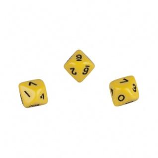 10-seitiger Würfel - Trapezoeder - W10 - 0-9 - gelb
