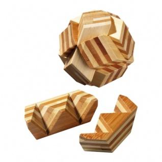 Ball-Puzzle - Bambus - 6 Puzzleteile - Denkspiel - Knobelspiel - Geduldspiel