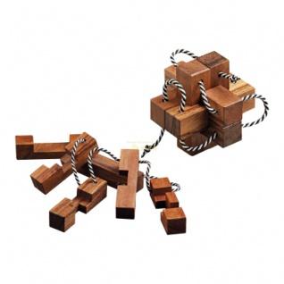 Chinesischer Teufel - 6 Puzzleteile - Denkspiel - Knobelspiel - Geduldspiel