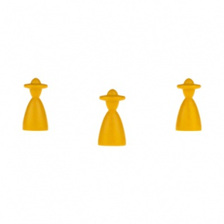 Halmakegel - elegant mit Hut - 13x26mm - gelb