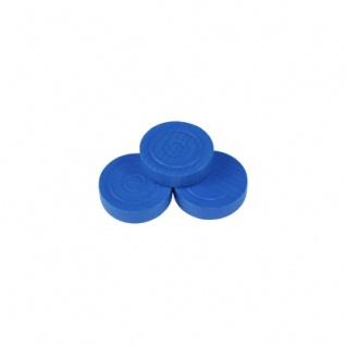 Mühlestein - Dame - Backgammonstein - 25x7mm - blau