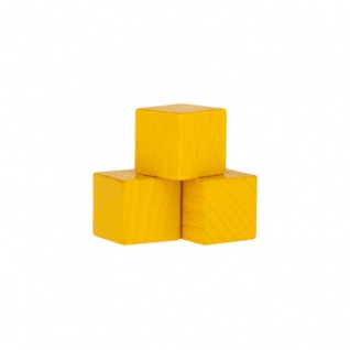 Würfel - Quader - kantig - 16mm - gelb