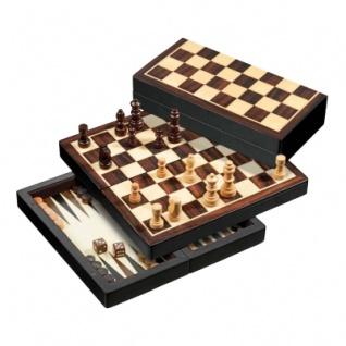 Reisespiel - Schach - Backgammon und Dame-Set - magnetisch