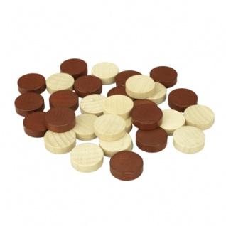 Backgammonspielsteine - Ersatz- oder Austauschset - 21 mm