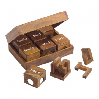 Geduldspiel 16 unterschiedlich Cube I Knobelspiel Denkspiel