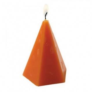 Kerze - handgearbeitet - Diamant-Form - 5 versch. Farben - ca. 10 cm