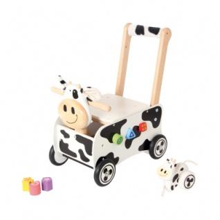 Schiebewagen Kuh schwarz - weiß