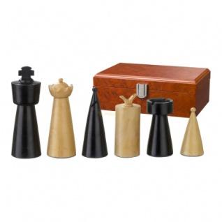 Schachfiguren - Domitian - Holz - Modern Style - Königshöhe 90 mm - Vorschau