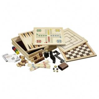 Holz-Spielesammlung - inkl. 10 Spiele - medium