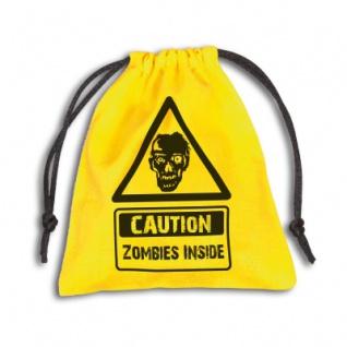 Zombie Stoffbeutel - 110x120mm - gelb - Vorschau