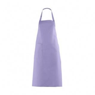 Latzschürze mit großer Tasche - flieder - lila - 100 cm