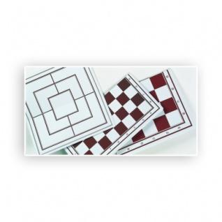 Schach-Dame-Spielplan - faltbar - Rückseite Mühle - Breite 33, 5cm - Feldgröße 35mm