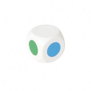 Farbwürfel 18 mm - weiß - 5 Farben