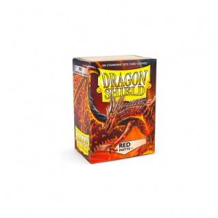 Dragon Shield Matte - Rot - 100 Stück