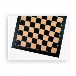 Schachbrett - Anigre mit Zahlen und Buchstaben - Breite 52cm - Feldgröße 55cm