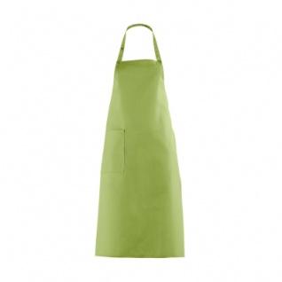 Latzschürze mit großer Tasche - apfelgrün - 100 cm