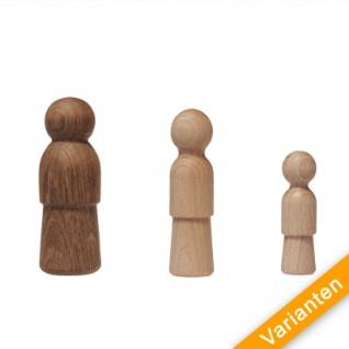 Holzkegel - Holzfiguren - Pöppel - ca. 10 cm - Vorschau 2