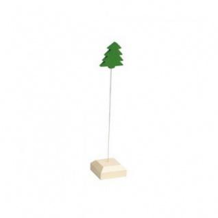 Kartenhalter - Tanne - massiver Holzfuß - 19 cm