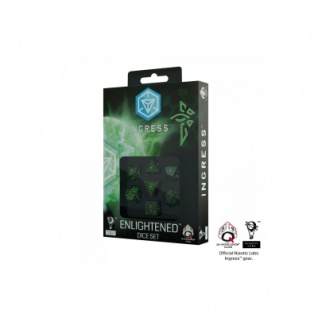 Ingress Dice Set - Enlightened - 7 Würfel