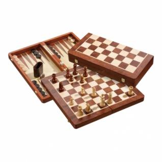 Schach-Backgammon-Dame-Set - Feld 50 mm