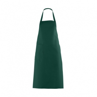 Latzschürze mit großer Tasche - dunkelgrün - 100 cm