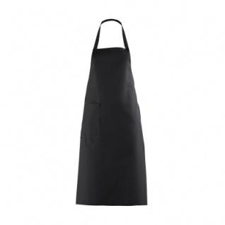 Latzschürze mit großer Tasche - schwarz - 100 cm
