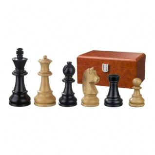 Schachfiguren - Ludwig XIV - Holz - Staunton - Königshöhe 110 mm
