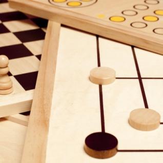Spielesammlung - Holz - inkl. 10 Spiele-Klassiker - Vorschau 3