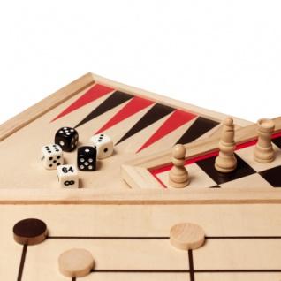 Spielesammlung - Holz - inkl. 10 Spiele-Klassiker - Vorschau 2