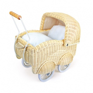 Puppenwagen - Korbgeflecht - groß